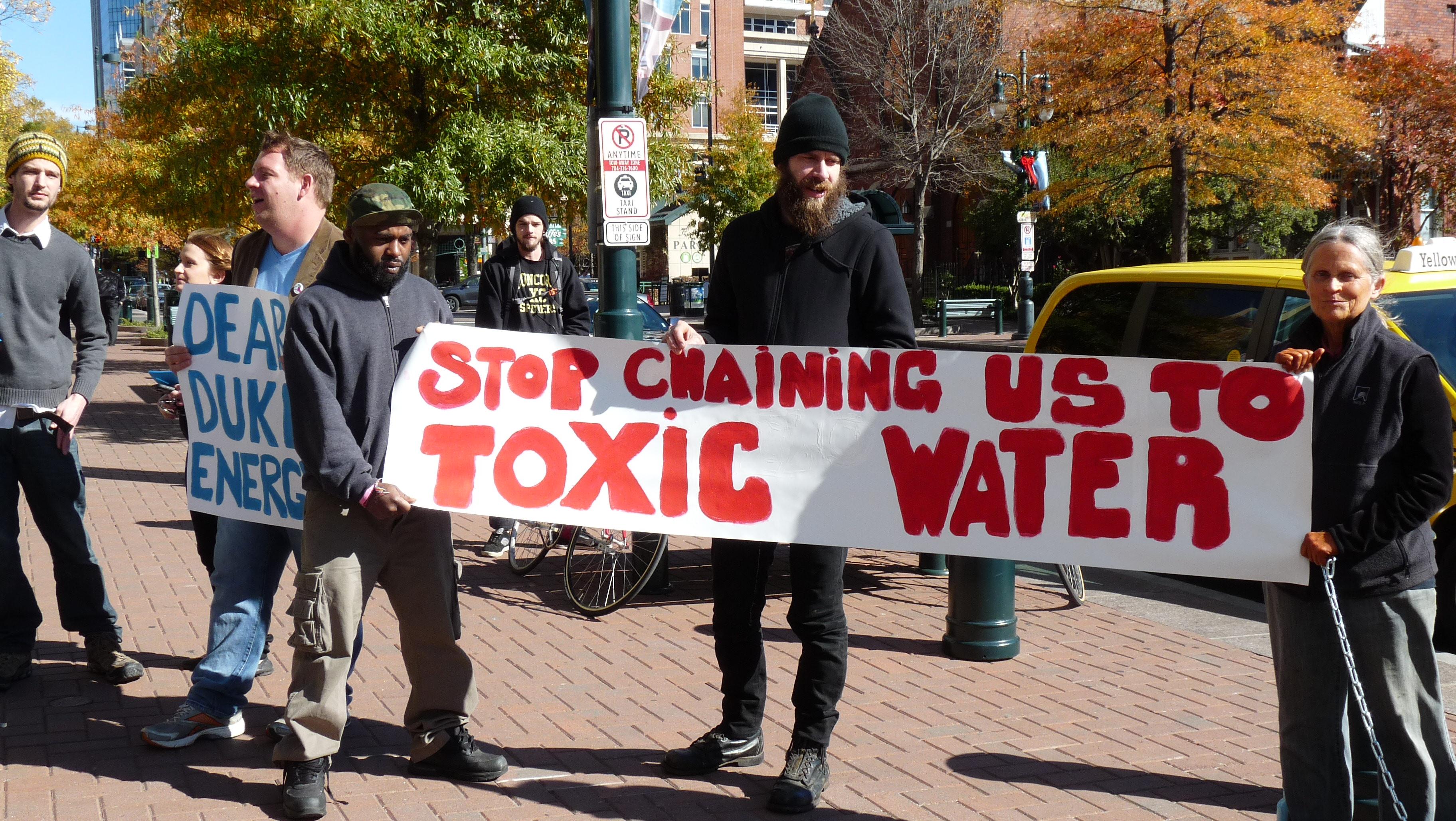 Charlotte Environmental Action protesting Duke Energy